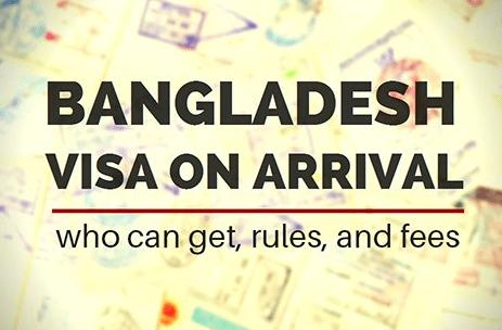 On arrival visa For Bangladeshi Passport holder