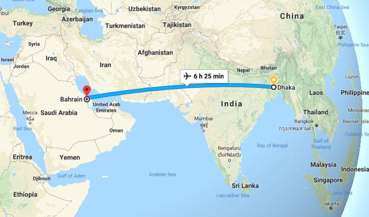 Dhaka to Bahrain Flight Information