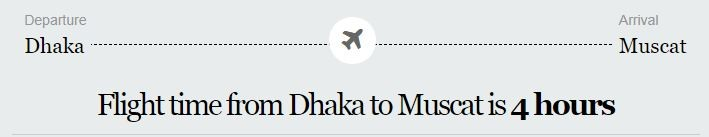Dhaka to Oman Flight Information