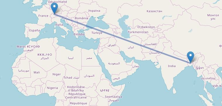 Dhaka to Switzerland Flight Information