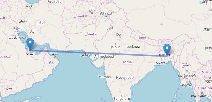 DHAKA To QATAR Flight Information