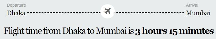 DHAKA To Mumbai Flight Information